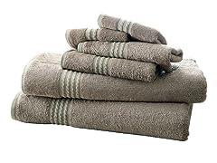 Bamboo 550 GSM 6-Piece Towel Sets