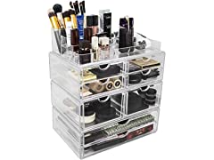Sorubs X-Large Double Drawers Stackable Makeup Storage