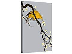 Perched Among Blossoms Gallery Wrapped Canvas 2-Sizes