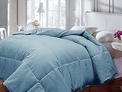 Down Alternative Comforter-Lt. Blue-2 Sizes