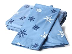 MicroFlannel King Set - Snowflake