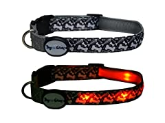 Dog-e-Glow Fishbones LED Lighed Collar - Medium