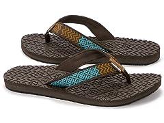 MUK LUKS® Women's Flip Flops, Square Zig