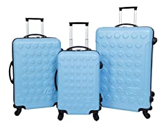 Skechers Cosmos Hardside Luggage Set-Blue