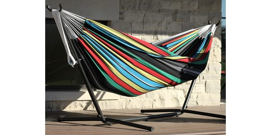 Vivere 9 Foot Double Hammock With Stand