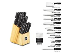 Kevin Dundon 20 Piece Cutlery Wood/Black