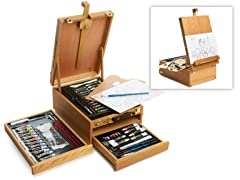 Art 101 97-Piece Sketch Box Easel