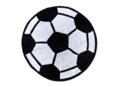 "36"" Round Soccerball Rug"