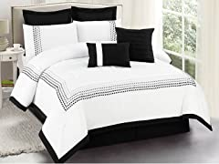 Klyne Embellished 8 Piece Comforter Set- 2 Sizes