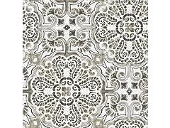 Black Florentine Tile Peel & Stick Wallpaper