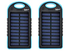 JC Wolf Solar Power Portable Charger 6800mAh - 2 Pack