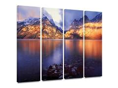 Lake Sunrise 4PC Landscape Canvas Art