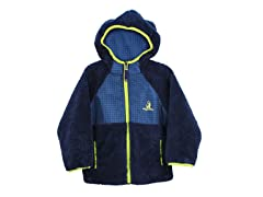 Navy Sherpa Fleece Jacket (4-7)