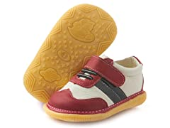 Squeaker Tennis Shoe - Red & White