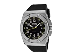 Men's Auto/Mechanical Black Rubber Watch