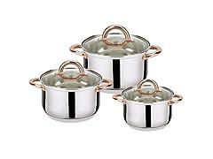 6-Piece Stainless Steel Casserole Set