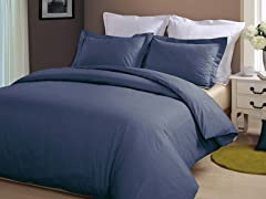 Hotel Peninsula Duvet Set-Navy-2 Sizes