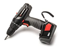 Force 18-Volt Cordless Drill with Battery