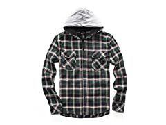 Long Sleeve Hooded Flannel Shirt