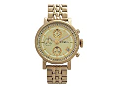 Fossil ES2197P Gold-Tone Stainless Steel Watch