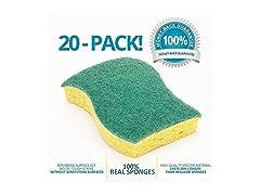 STK 20-Pack Multi-Use Heavy Duty Scrub Sponge