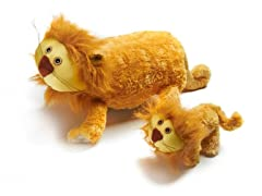 Zoobies Lencho Lion w/BONUS Mini Plush