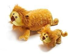 Zoobies Lencho Lion w/BONUS Mini Plush