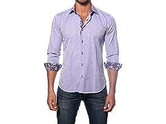Jared Lang Dress Shirt, Lilac Paisley