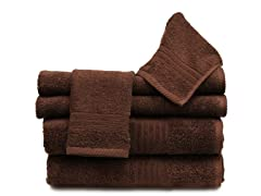 6Pc Towel Set-Cocoa