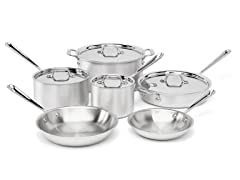 All-Clad 10-Pc Stainless Cookware Set