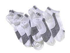 Women's Non-Terry Low Cut, White 6pk