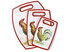 Cuisinart 3 Pc. Rooster Board Set