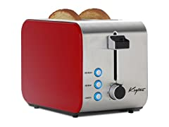 2-Slice Toaster w/Crumb Tray - 3 Colors