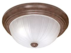 "1-Light 11"" Flush Dome, Old Bronze"