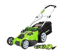 Greenworks 40V Li-Ion 20-Inch Cordless Lawn Mower
