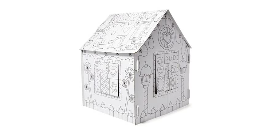 Jumbo Color-In Candy House Cardboard Playhouse - Kids & Toys