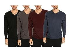 Men's V-Neck Pullover Sweaters 2 Pack