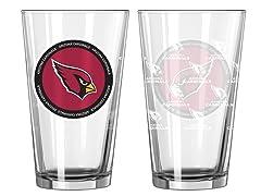 Arizona Cardinals ROH Pint Glasses (2)