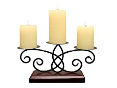 Stonebriar 3 Pillar Wire Candle Holder