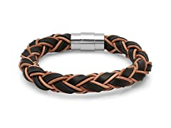 Men's Leather Bracelet with Rope