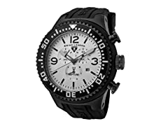 Men's Neptune Chronograph, White / Black