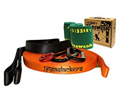 Yogaslackers eLine Slackline Kit with Treewear