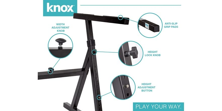 Knox Gear Z Style Adjustable Piano Keyboard Stand