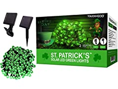 Solar Saint Patrick's Day String Lights