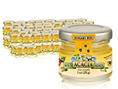 Hungary Bees Acacia Honey 1oz Jars (60)