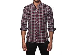 Jared Lang Dress Shirt, Black/Fuchsia