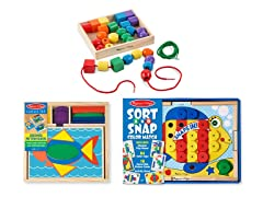 Melissa & Doug Beginning Skills Bundle