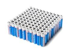"""AA"" Alkaline Batteries - 100 Pack"