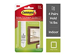 Command Command 16 lb Large White Picture Hanging Strips,