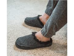 MUK LUKS Men's Faux Wool Clog Slippers